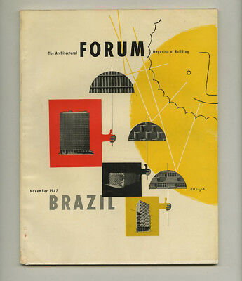 1947 Brazil Special Issue ARCHITECTURAL FORUM Oscar Niemeyer Roberto Burle-Marx
