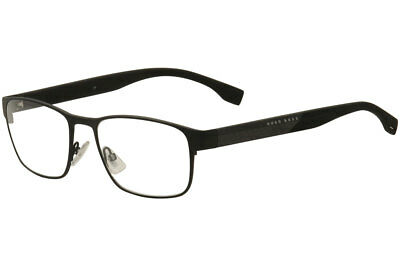 4a5f8322938 Hugo Boss Eyeglasses 0881 KCQ Black Carbon Fiber Rectangle Optical Frame  56mm