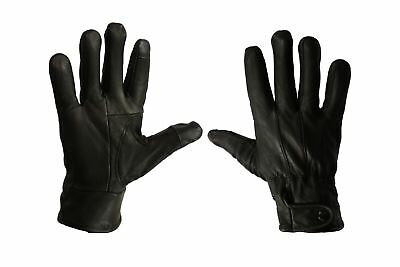 Gl150 Mens Touch Screen Real Leather Gloves Thermal Lined Driving Winter Gift