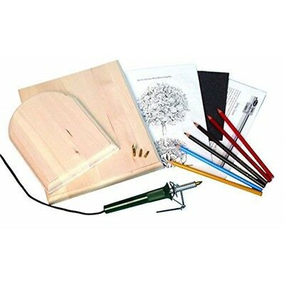 Walnut Hollow Deluxe Woodburning Kit With Woodburning Pen, Patterns, Color -