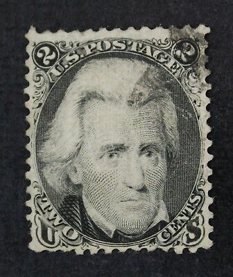 CKStamps: US Stamps Collection Scott#87 2c Jackson Used Lightly Crease