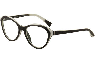 70c1a728fc91b Alain Mikli Eyeglasses A03076 A0 3076 003 Black White Cat eye Optical Frame  54mm