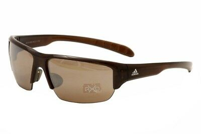 4714fb47a76ebd Adidas Kumacross Halfrim A421 A 421 6052 Brown Transparent Wrap Sunglasses  68mm