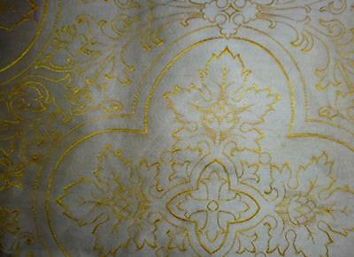 1m BEAUTIFUL 19th CENTURY FRENCH SILK BROCADE, FROM VESTMENT 157.