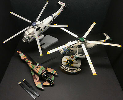 Sikorsky SH3 Sea King helicopter wood model lot USS CONSTELLATION Antisubron 6,8