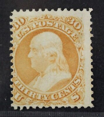 CKStamps: US Stamps Collection Scott#100 30c Franklin Unused NG Tiny Thin