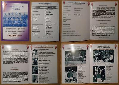 Fiorentina v West Ham United 03 Sep 1975 Anglo-Italian Cup 1975 (PLEASE READ).