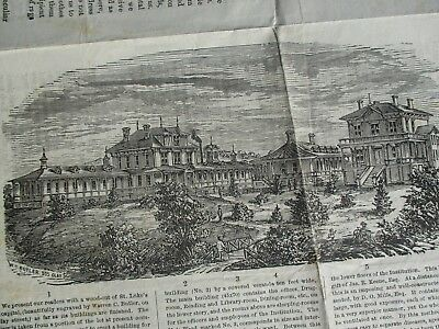 1876 Awesome San Francisco Graphic Picture St.luke's Hospital 4 Pg.,newspaper!!!