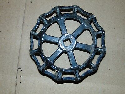 "Ornate Industrial Machine Age 5"" CAST METAL Water Valve Handle Steampunk Art"