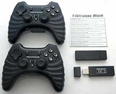 2 SEALED NEW Thrustmaster PS3 Wireless Bluetooth Controller BLACK Game 4 Sony PC