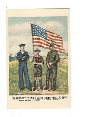 Wwi Patriotic Postcard, Defenders Of Red, White And Blue, Wallace Robinson, Sign