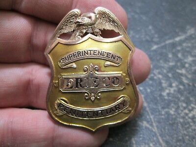 RARE Early ERIE COUNTY NY SUPERINTENDENT PENITENTIARY 10K GOLD SHIELD Badge