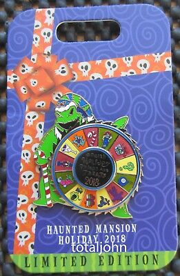 Disney Haunted Mansion Holiday Oogie Boogie 2018 Spinner Pin