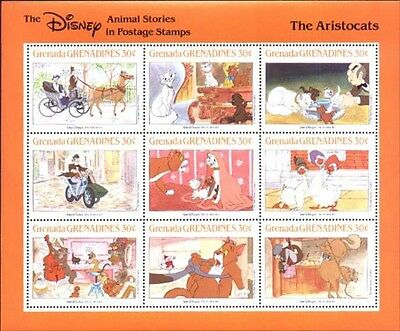 Disney Grenada-Grenadines MNH Sc 991 Animal stories The Aristocats