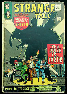 Doctor Strange in Strange Tales 137 a fn 1965 'cent' Silver Age Marvel Comic Lee