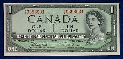 1954 Bank of Canada  $1 Banknote **Devils Hair**