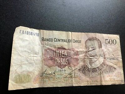 Chile  Currency  500 Pesos  a 503