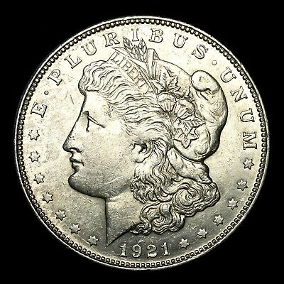1921 D ~**ABOUT UNCIRCULATED AU**~ Silver Morgan Dollar Rare US Old Coin! #365