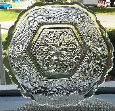 Very Beautiful Circa 1930 Antique Indiana Glass Clear Bowl In Sandwich Pattern