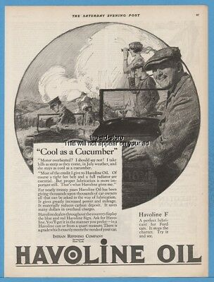 1922 Havoline Motor Oil Indian Refining Company Cool As A Cucumber Ford Ad