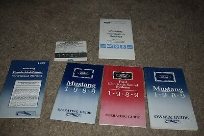 1989 Ford Mustang owners manual w/ extras LX GT