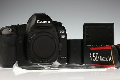 Canon EOS 5D Mark II 21.1MP Digital Camera Body Shutter Count 16413 Excellent+