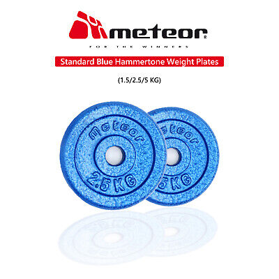 METEOR Standard Hammertone Weight Plate Fitness Gym Weightlifting Dumbbell Body
