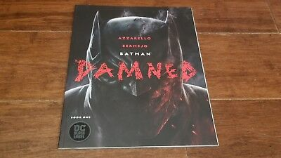 Batman Damned #1 Book One PERFECT High Grade 1st DC Black Label Title Uncensored