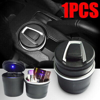 Movable Ashtray Car Blue LED Light Ashtray Auto Travel Cigarette Ash Holder Cup