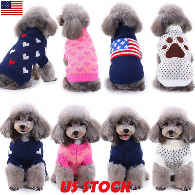 Pet Coat Dog Jacket Knitted Winter Clothes Puppy Sweater Coat Clothing Apparel