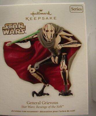 Star Wars Hallmark General Grievous ROTS SIth  MIB Box 2012 Ornament  1218