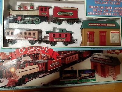 Dickensville Express Christmas Holiday Train Set-NEW BRIGHT-1996  Model 171LCTC