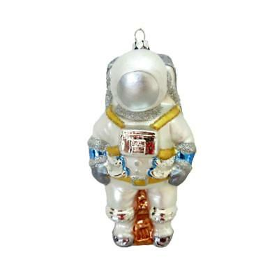 "ASTRONAUT GLASS ORNAMENT 5"" Retro Space Suit Sci Fi Christmas Tree NASA Spaceman"