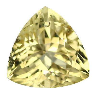 1.49Ct Trillion cut 8 x 8 mm 100% Natural AAA Yellow Beryl