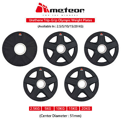 METEOR Olympic PU 2.5-20KG Weight Plate Fitness Weightlifting Gear Barbell Gym