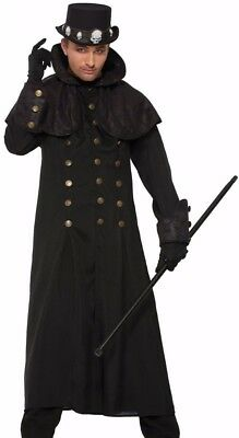 Warlock Coat Adult Mens Costume Vampire Lord Victorian Steampunk Witch Goth