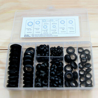 Set Grommets Electrical Harness Gasket Assortment Replacement Rubber 5mm-20mm