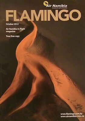 Air Namibia - Inflight Magazine - October 2012 Flamingo Includes Timetable