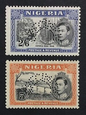 MOMEN: NIGERIA SG #58s-59s SPECIMEN UNUSED £ LOT #533