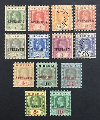 MOMEN: NIGERIA SG #15s/29s SPECIMEN UNUSED / 1 MINT OG NH(5sh) £450 LOT #535