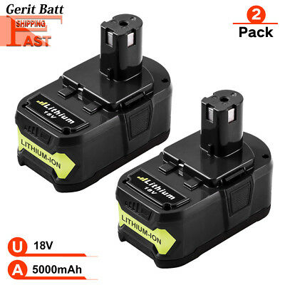 4.0Ah&5.0Ah 18V Li-ion Battery For Ryobi ONE+ Plus P104 P108 P102 P103 P105 P107