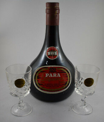 Seppelt Para Liqueur Port Number 113 Circa 1988 Boxed + 2 Cristal Port Glasses