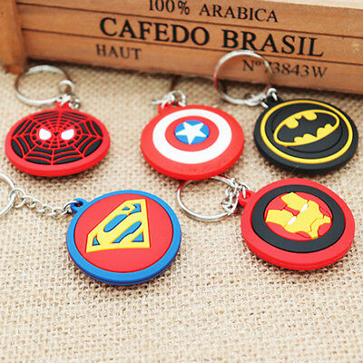 Iron Man Captain America Spider-Man Batman Superman Key Chains Keychain Keyring