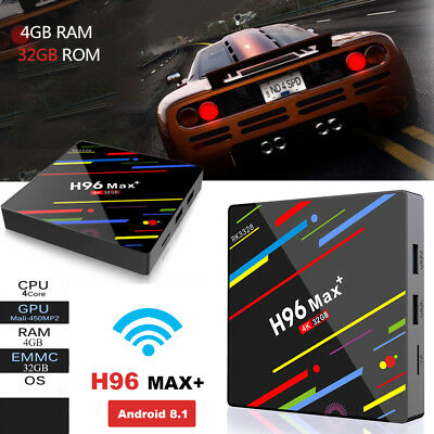 H96MAX+ Smart TV Box WIFI Quad Core Android 8.1 4G 32G RK3328 4K Media Player