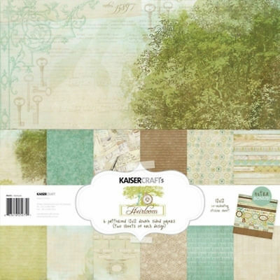 KAISERCRAFT Scrapbooking Paper Pack + Sticker Sheet Heirloom PK475 Vintage