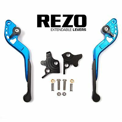 REZO Blue Extendable Brake and Clutch Lever Set for Ducati Hypermotard 796 10-12