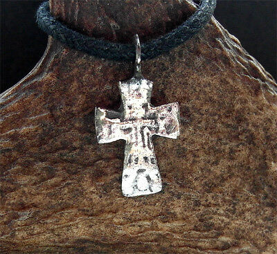 SUPERB MEDIEVAL BRONZE CROSS PENDANT - wearable