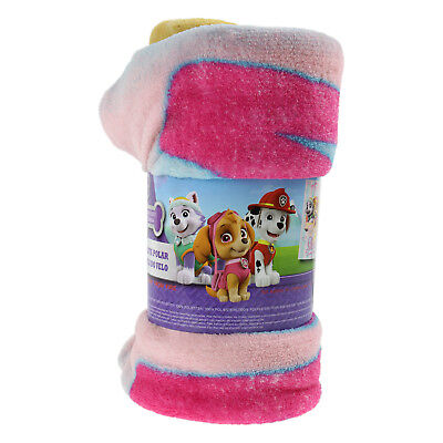 Kids Pink Paw Patrol Soft Fleece Blanket Childrens Cosy Warm Character Blankets