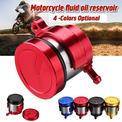 Motorcycle Front Brake Clutch Master Cylinder Fluid Oil Reservoir Cup Universal