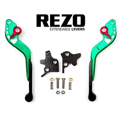 REZO Green Extendable Brake and Clutch Lever Set for Ducati Monster 900 00-05